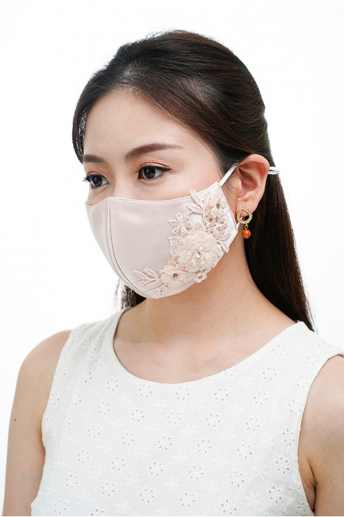Ear Loop - 3D Lace Mask (Nude Blush)