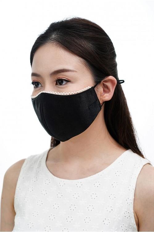 Ear Loop - Pearl Mask (Black)
