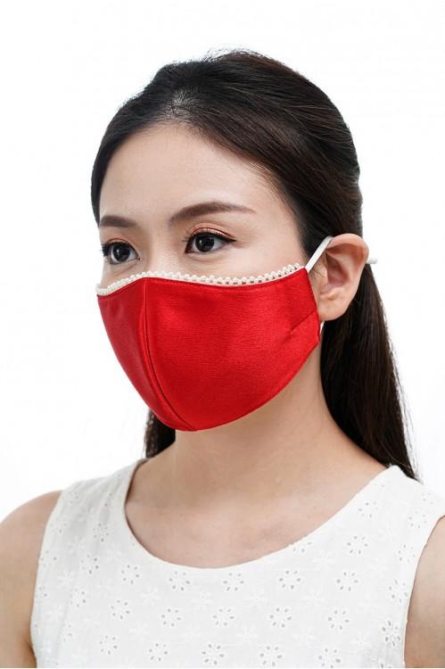 Ear Loop - Pearl Mask (Red)