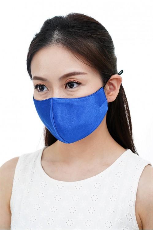 Ear Loop - Satin Silk Mask (Royal Blue)