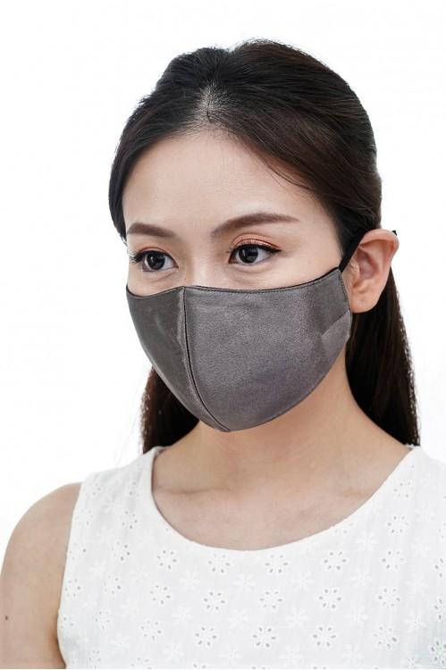 Ear Loop - Satin Silk Mask (Charcoal)