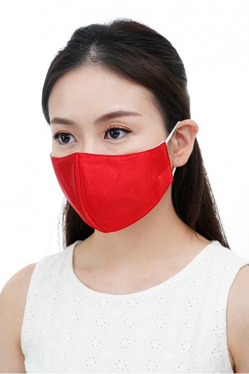 Ear Loop - Satin Silk Mask (Scarlet Red)