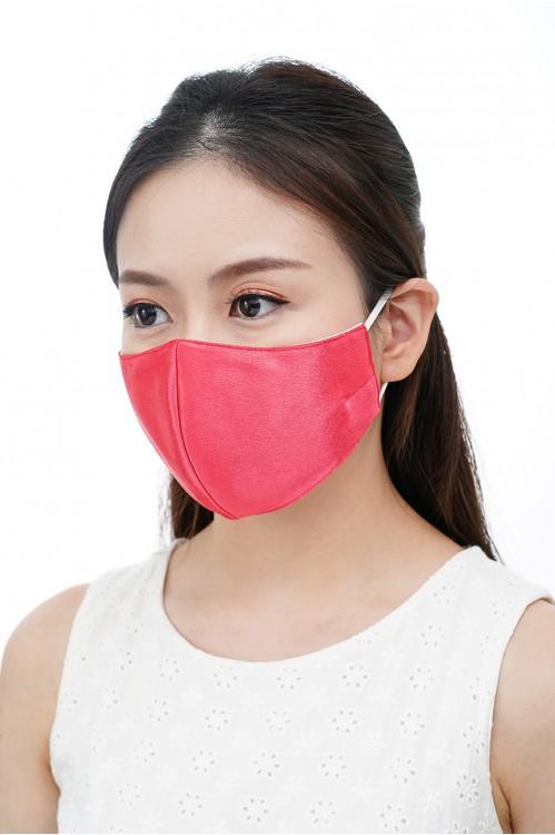 Ear Loop - Satin Silk Mask (Electric Pink)