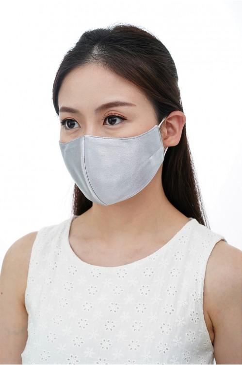 Ear Loop - Satin Silk Mask (Grey)