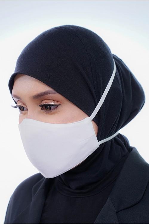 Tie Back - Matte Cotton Mask (White)