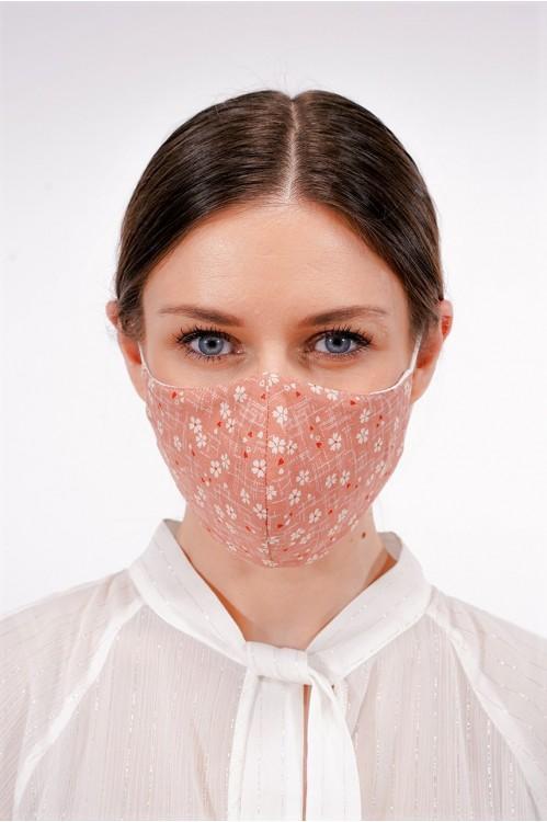 Ear Loop - Japanese Cotton Mask (Dusty Pink)