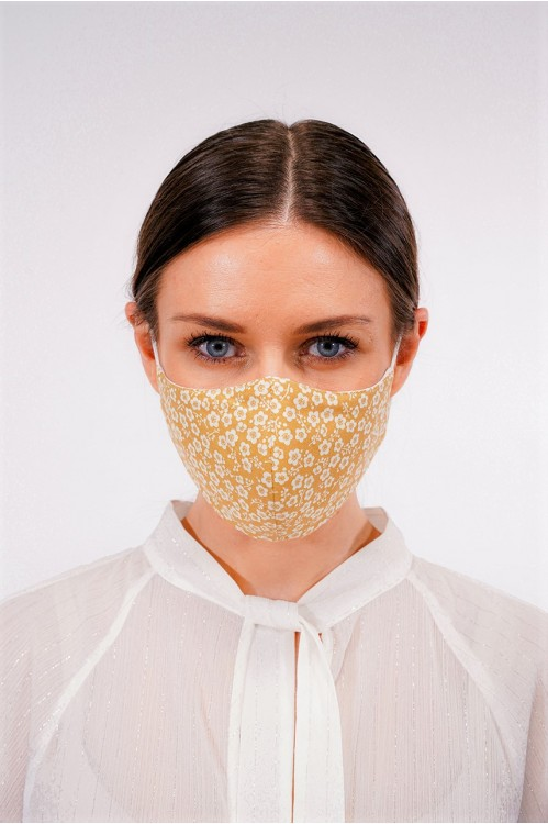 Ear Loop - Japanese Cotton Mask (Mustard)