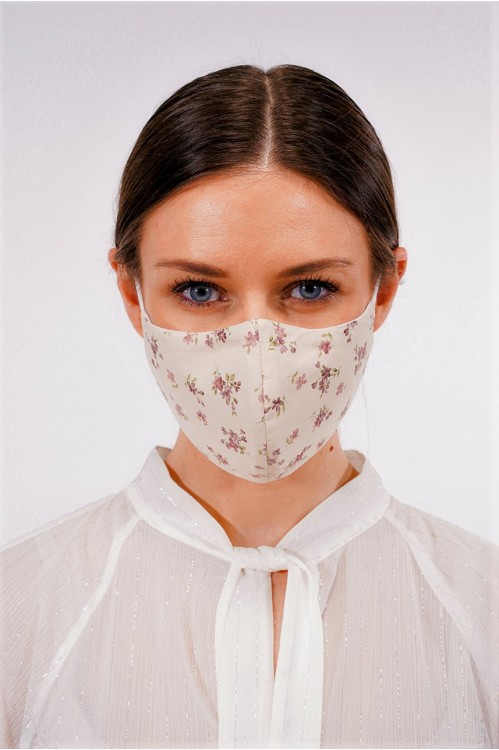 Ear Loop - Japanese Cotton Mask (English Florals)