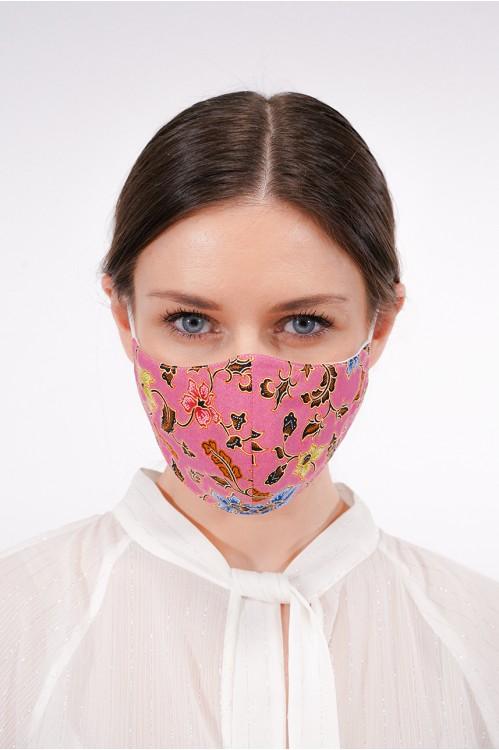 Ear Loop - Batik Mask (Pink)