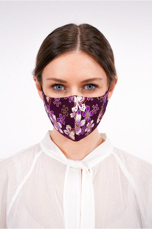 Ear Loop - Japanese Cotton Mask (Dark Purple)