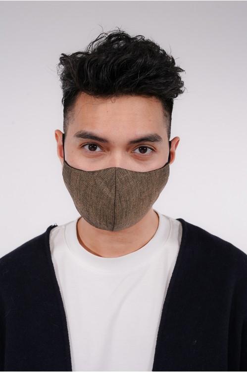 Men's - Gabardine Cotton Mask (Brown)