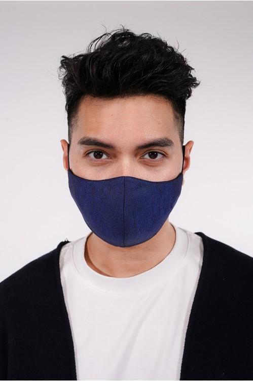 Men's - Gabardine Cotton Mask (Navy)