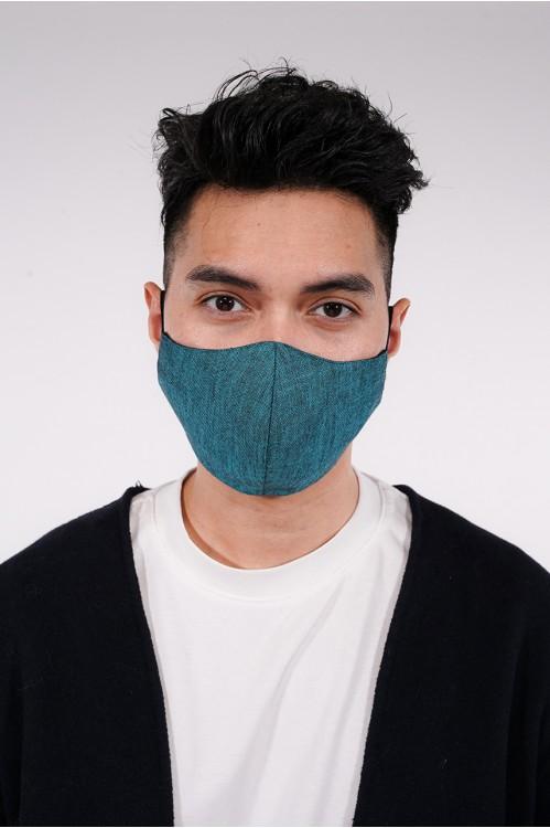 Men's - Gabardine Cotton Mask (Turqoise)