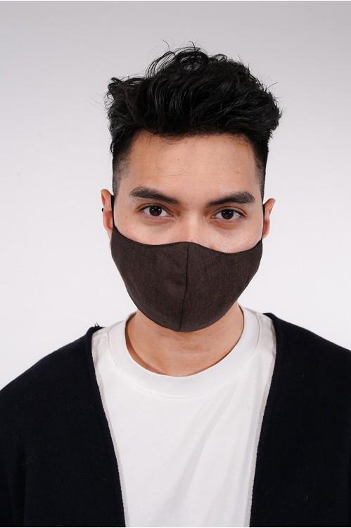Men's - Gabardine Cotton Mask (Cocoa)