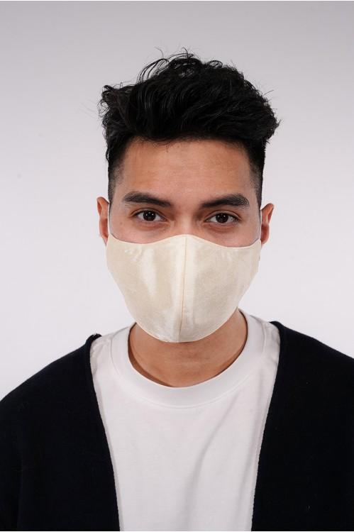 Men's - Shantung Silk Mask (Beige)