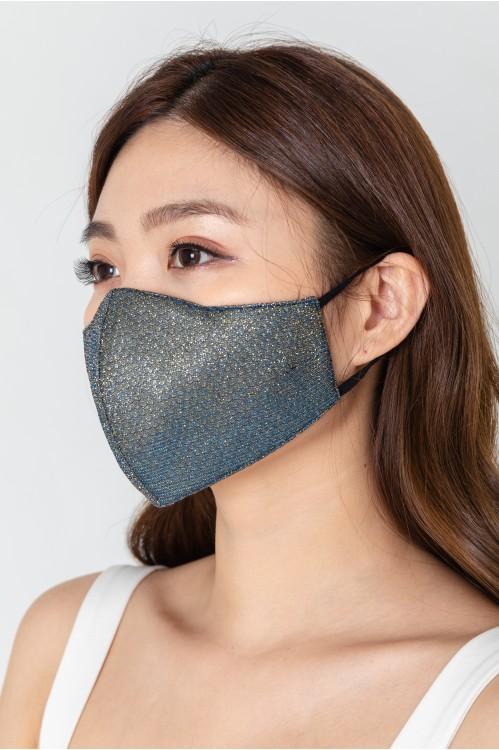 Ear Loop - Glitter Mask (Navy Blue)