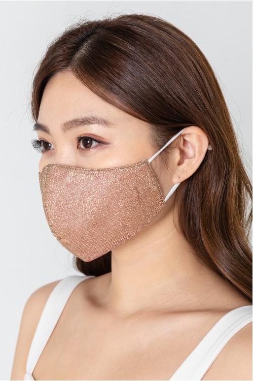 Ear Loop - Glitter Mask (Rose Gold)