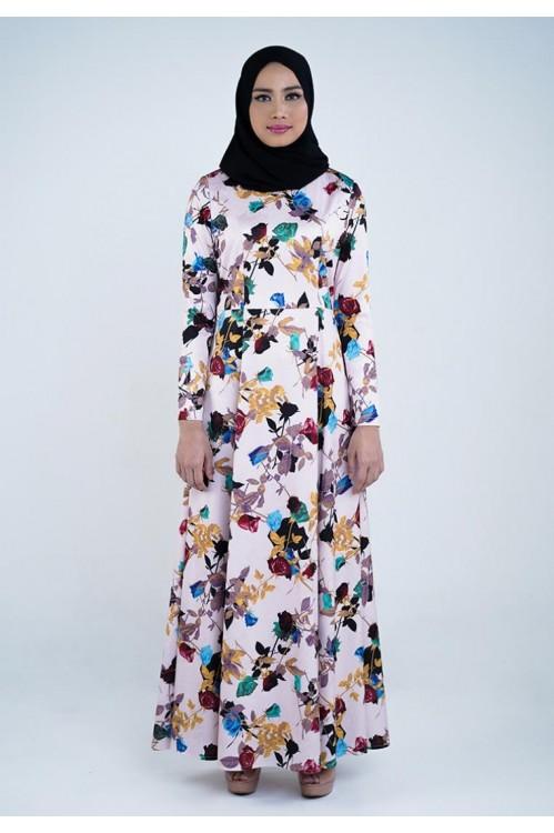 Floral Printed Embossed Maxi