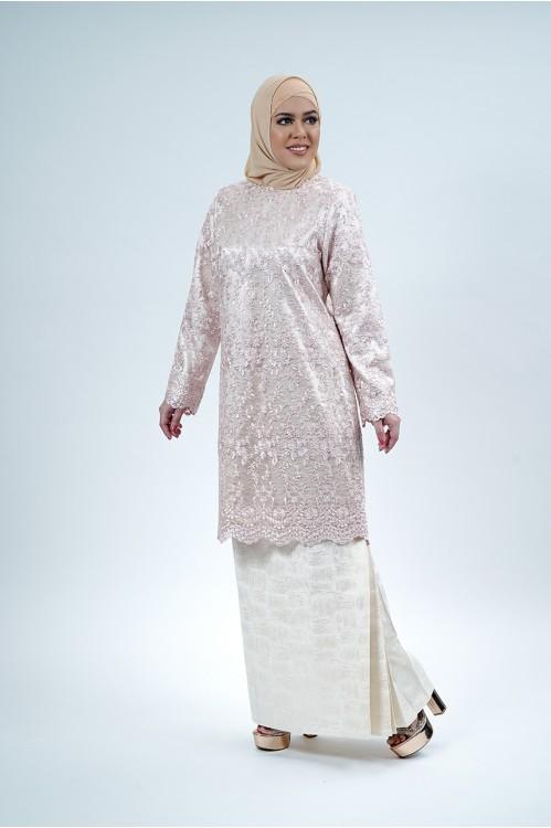 Lace Baju Kurung (Babypink)