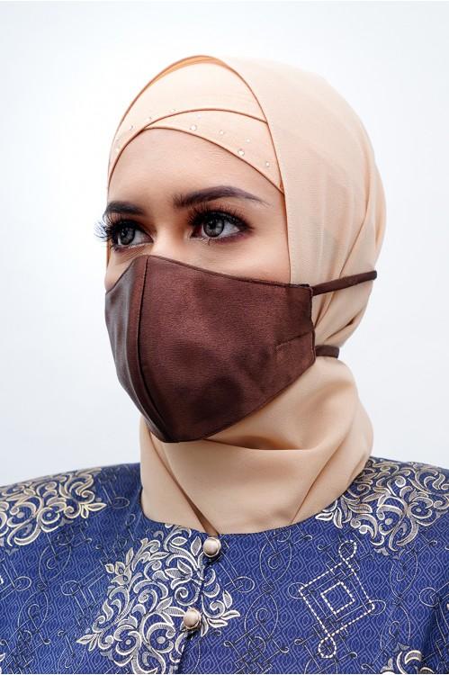 Tie Back - Satin Silk Mask (Cocoa)