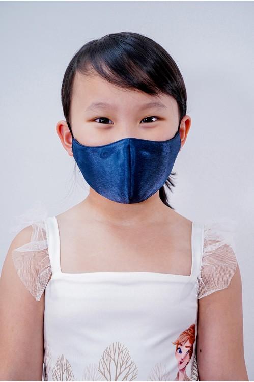 Kids - Silk Satin Mask (Navy)