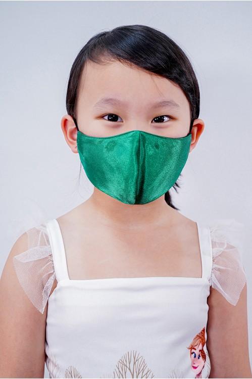 Kids - Silk Satin Mask (Emerald)