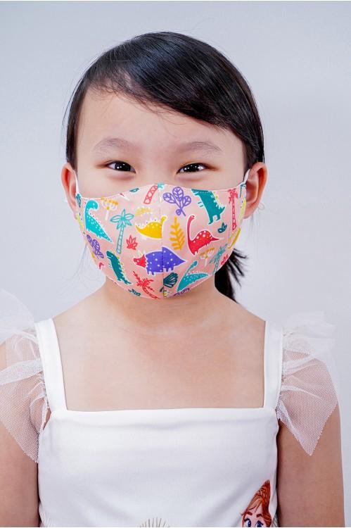 Kids - Dinosaur Mask (Peach)