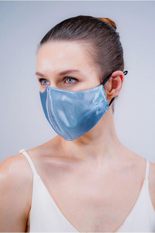 Ear Loop - Satin Silk Mask (Ash Blue)